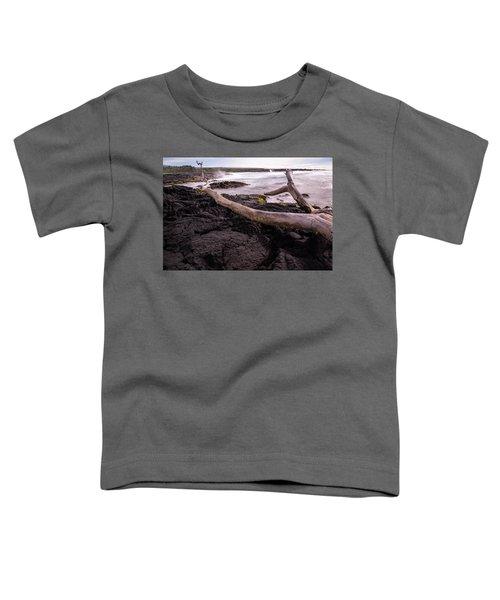 Fallen Tree At Punalu'u Beach Toddler T-Shirt