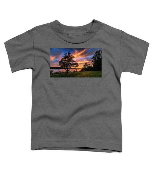 Fishing At End Of Day Toddler T-Shirt