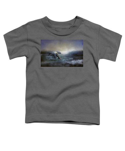 Fishing In The Storm Toddler T-Shirt