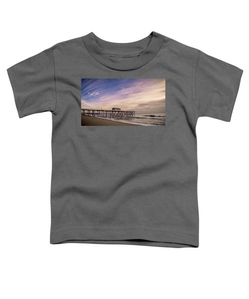 Fishing Pier Sunrise Toddler T-Shirt