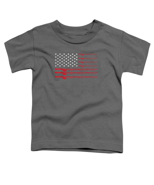 Fishing Rod T Shirt American Usa Flag - Fisherman Gift Idea Toddler T-Shirt