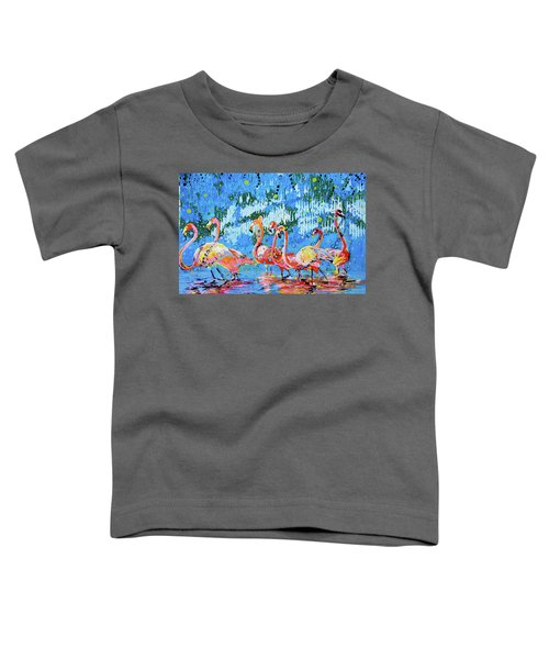 Flamingo Pat Party Toddler T-Shirt