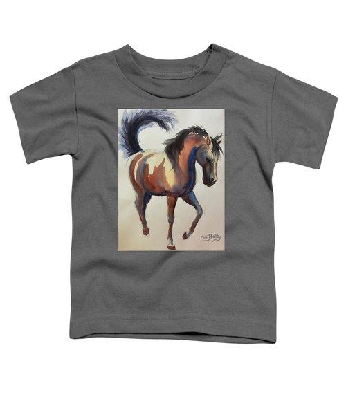 Flashing Bay Horse Toddler T-Shirt