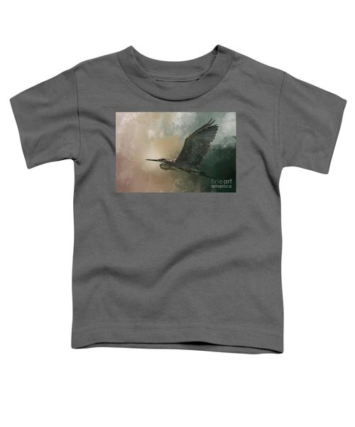 Flight Of The Great Blue Toddler T-Shirt