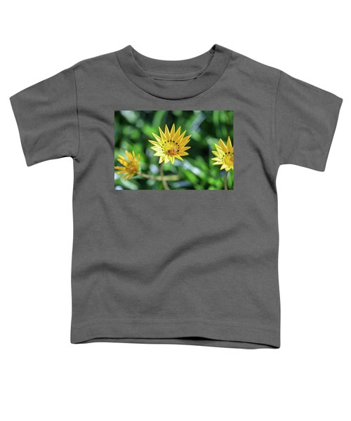 Yellow Flowers And A Bee Toddler T-Shirt