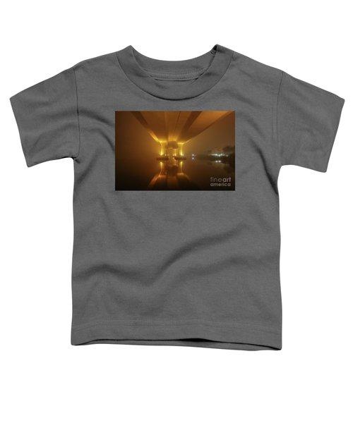Foggy Bridge Glow Toddler T-Shirt