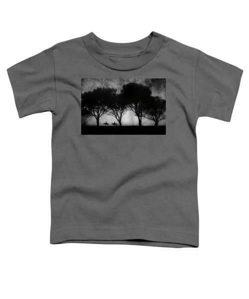 Foggy Morning Ride Toddler T-Shirt