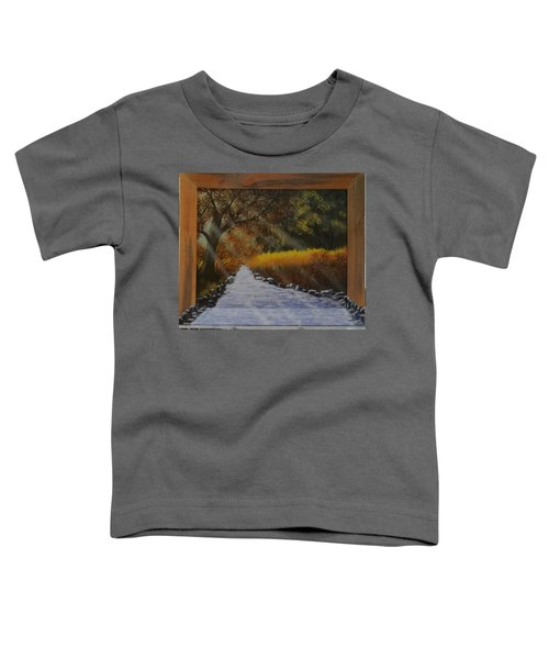 Forest Sunrays Over Water Toddler T-Shirt