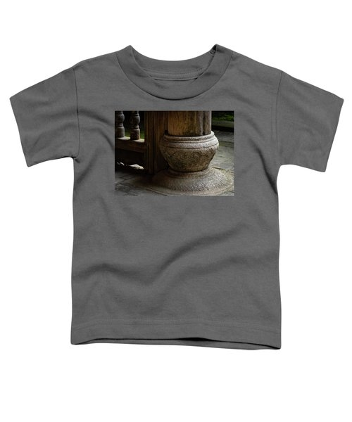 Foundation Stone Under Wooden Pole Used In Chinese Architecture Toddler T-Shirt