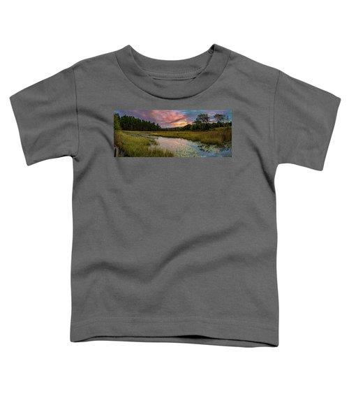 Friendship Panorama  Sunrise Landscape Toddler T-Shirt