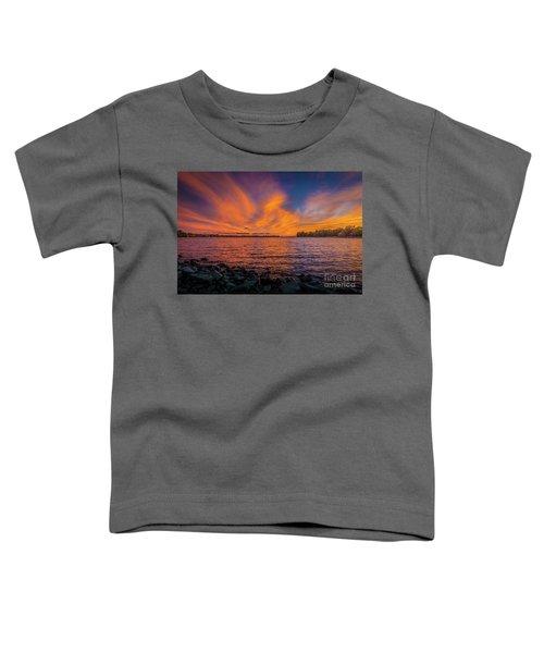 Frontenac Ferry Sunset Toddler T-Shirt