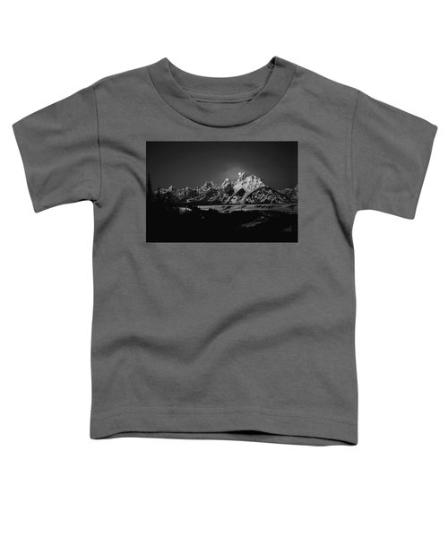 Full Moon Sets In The Tetons Toddler T-Shirt