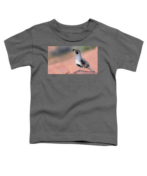 Gambels Quail Two Toddler T-Shirt