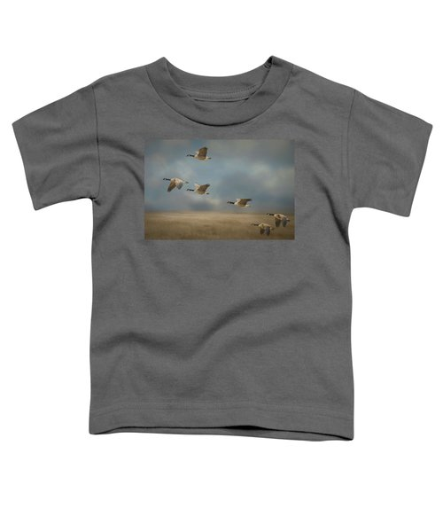 Geese, Coming In For A Landing Toddler T-Shirt