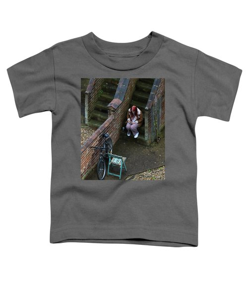 Girl On A Phone Toddler T-Shirt