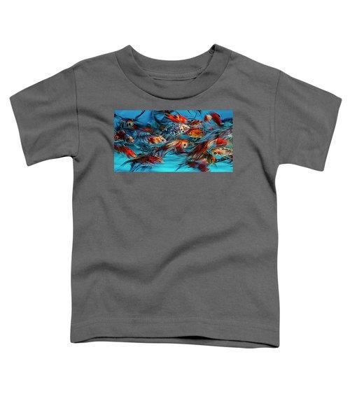 Gold Fish Abstract Toddler T-Shirt