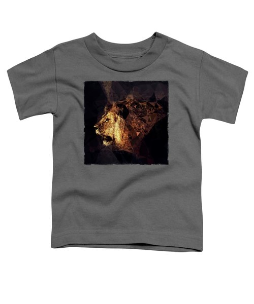 Golden Lion - Low Poly Effect Toddler T-Shirt