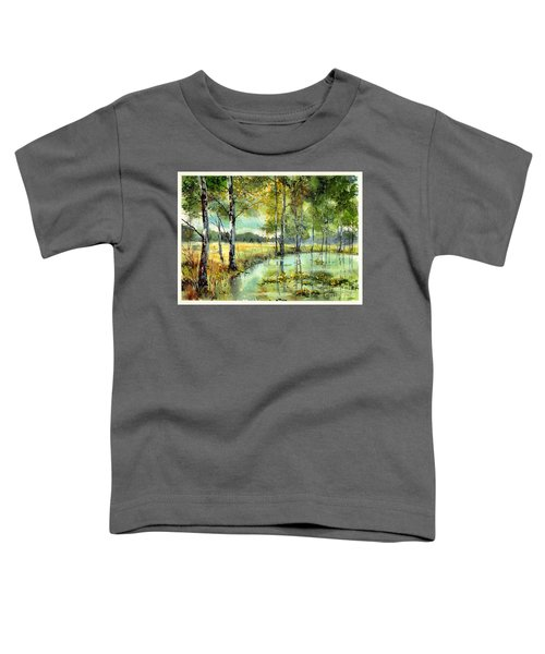 Gorgeous Water Lilies Bloom Toddler T-Shirt