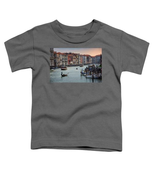 Grand Canal Gondolier Venice Italy Sunset Toddler T-Shirt