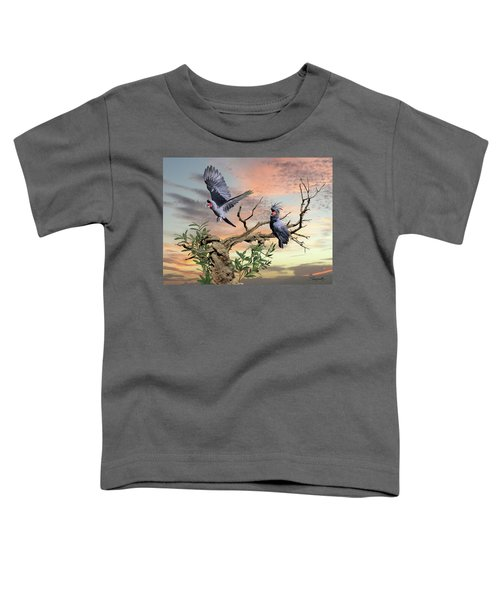 Great Black Cockatoo Pair Toddler T-Shirt