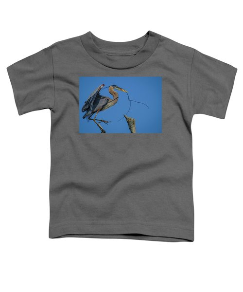 Toddler T-Shirt featuring the photograph Great Blue Heron 4034 by Donald Brown