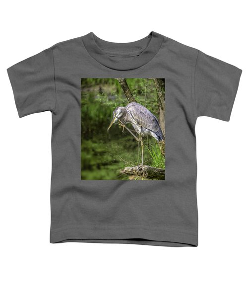 Great Blue Heron Itch Toddler T-Shirt