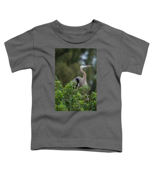 Great Blue Heron Portrait Toddler T-Shirt