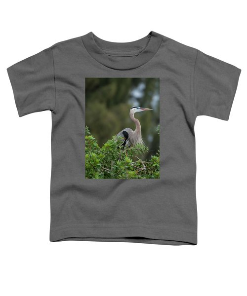 Great Blue Heron Portrait Toddler T-Shirt
