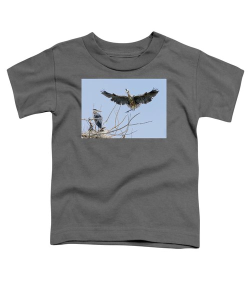 Great Blue Heron Rookery 2 Toddler T-Shirt