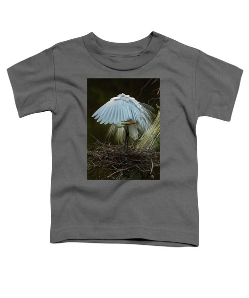 Toddler T-Shirt featuring the photograph Great Egret Beauty by Donald Brown