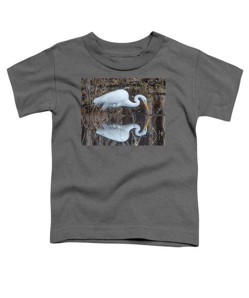 Great Egret In Breeding Plumage Dmsb0154 Toddler T-Shirt