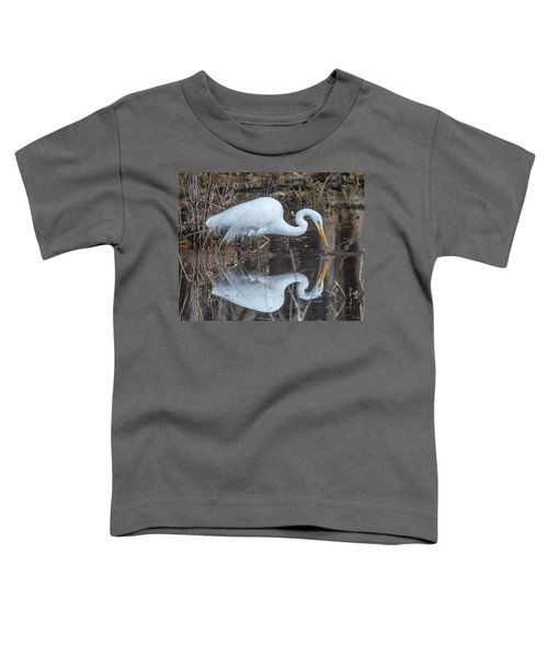 Great Egret In Breeding Plumage Dmsb0154 Toddler T-Shirt