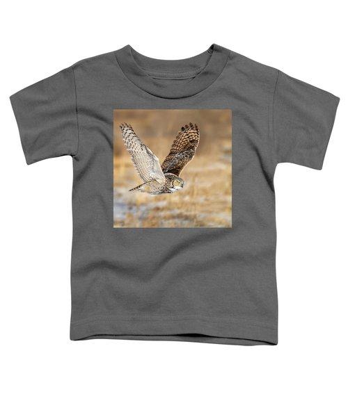 Great Horned Owl In Flight Toddler T-Shirt