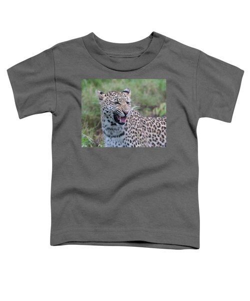 Grimacing Leopard Toddler T-Shirt
