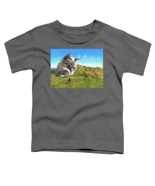 Gulliver's Cat Meets Abbie's Dogs  Toddler T-Shirt