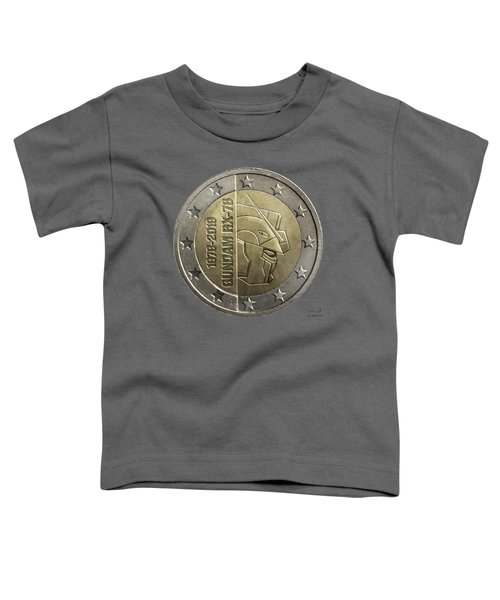 Gundam 40 Coin Dark Gray Toddler T-Shirt