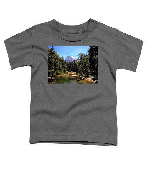 Half Dome From Ahwanee Bridge - Yosemite Toddler T-Shirt