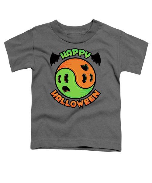 Happy Halloween Ghost Yin-yang Toddler T-Shirt