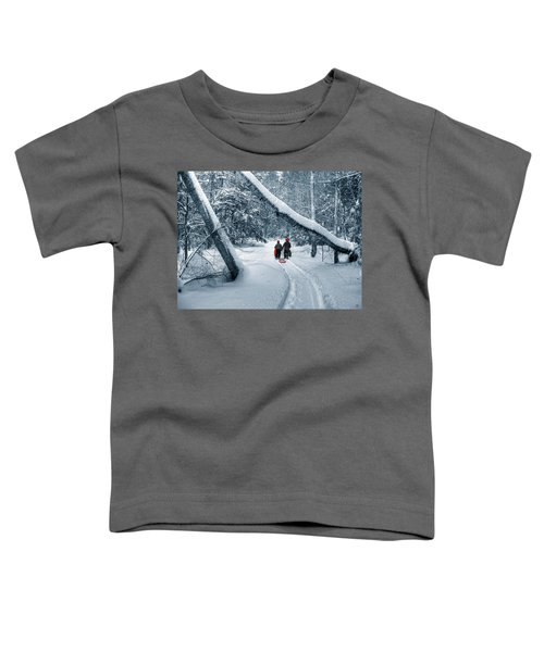Hiking Into The Gully Toddler T-Shirt