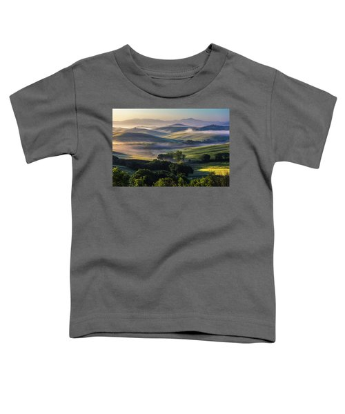 Hilly Tuscany Valley Toddler T-Shirt
