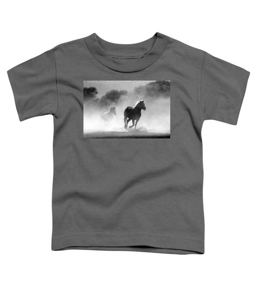 Horses On The Run Toddler T-Shirt