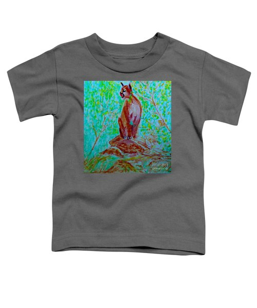 Hungry Mountain Lion Toddler T-Shirt