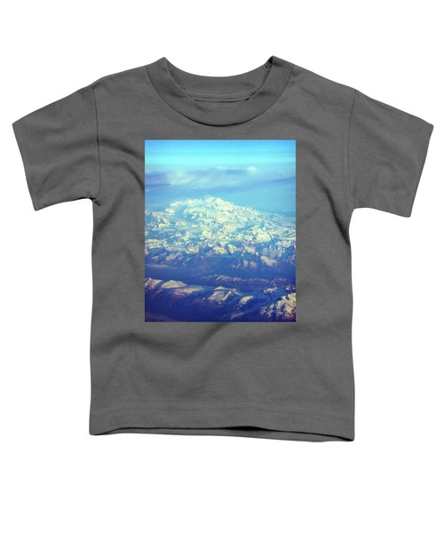 Ice Covered Mountain Top Toddler T-Shirt