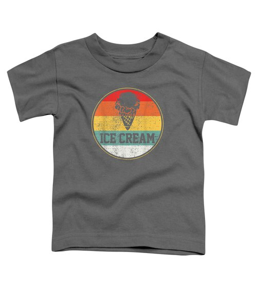 Ice Cream Retro Vintage T-shirt Summer Treats Cone Cool Tee Toddler T-Shirt