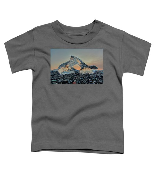 Iceland Diamond Beach Abstract  Ice Toddler T-Shirt