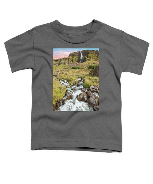 Iceland Waterfall Toddler T-Shirt
