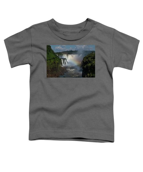 Iguazu Falls With A Rainbow Toddler T-Shirt