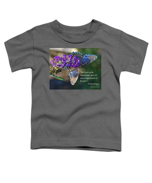 Inspiration - Red-spotted Purple Toddler T-Shirt