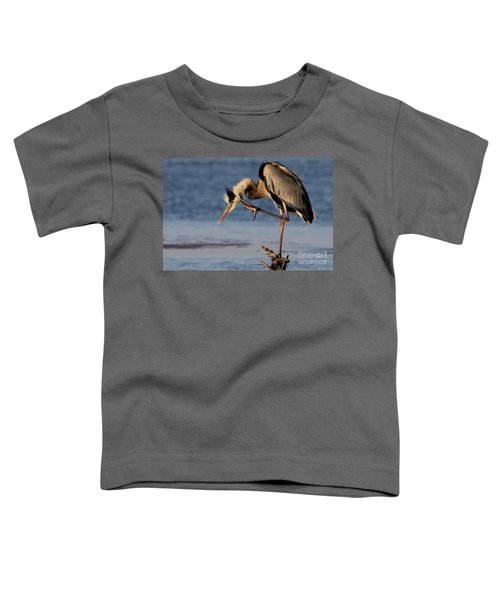 Itchy - Great Blue Heron Toddler T-Shirt