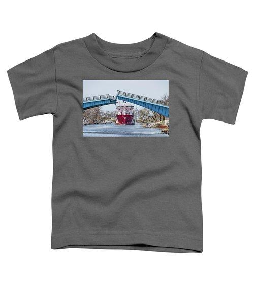 Iver Bright Tanker Visits Manistee Toddler T-Shirt